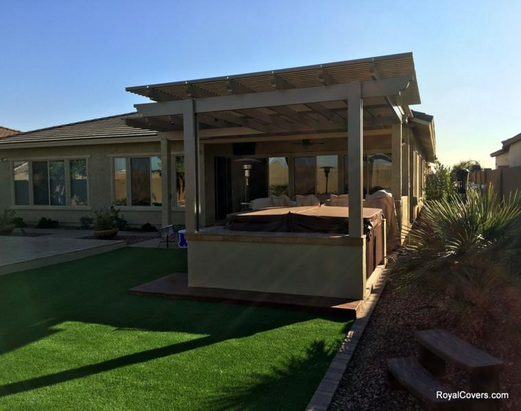pérgolas jardín techo madera