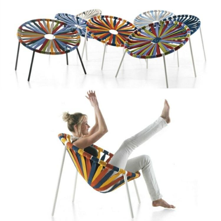 originales sillas elásticos colores
