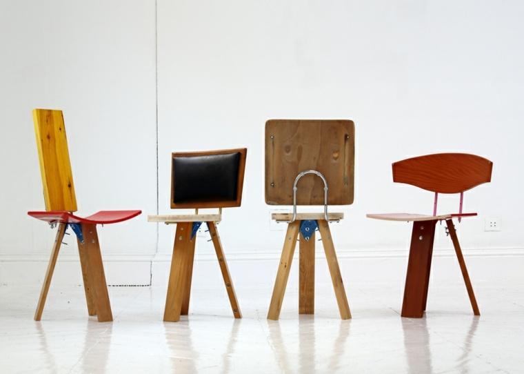 originales sillas reciclar muebles tablas viejas