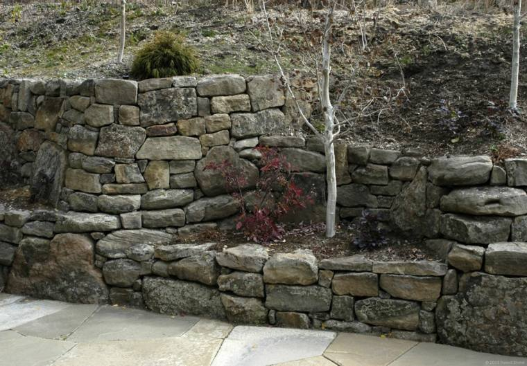 originales terrazas jardin piedra