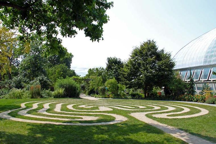originales laberintos decorativos suelo jardin