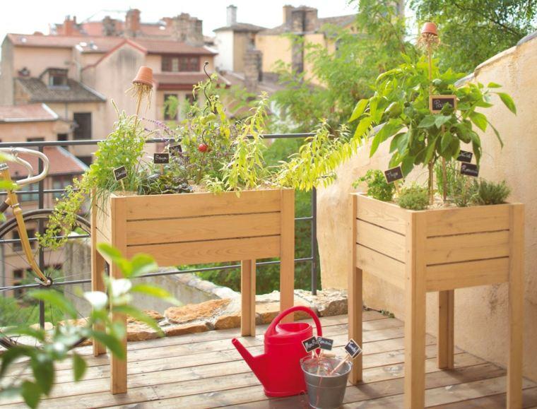 Huerto en el balc n treinta y cuatro ideas sencillas - Huerto urbano balcon ...