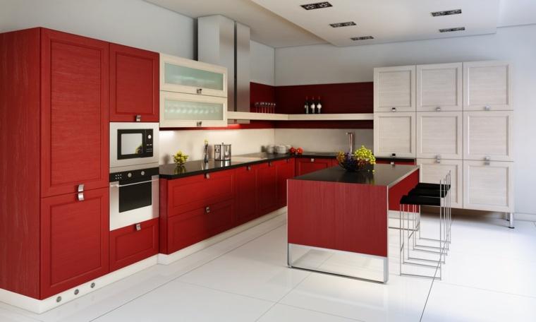 Cocinas rojas y blancas  descubre la nueva tendencia de 2016