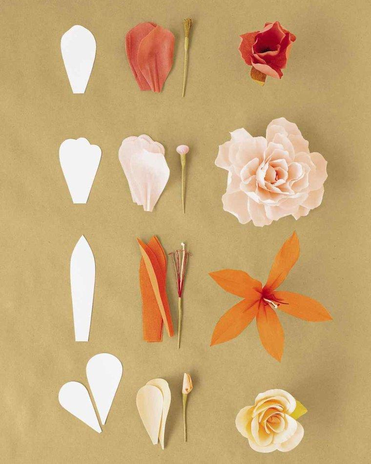 orioginales florecillas papel carton