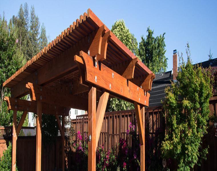 pérgola diseño madera natiral