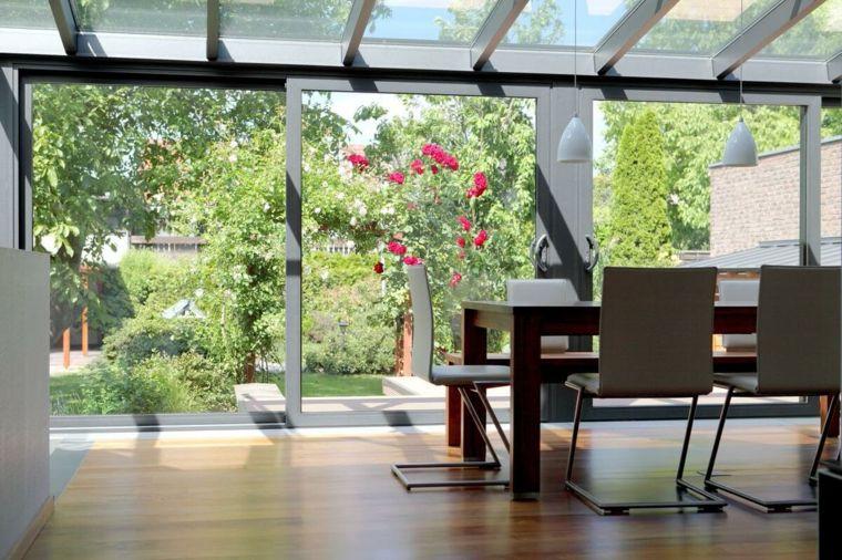 pabellon cristal alumio salon acristalado luminoso ideas