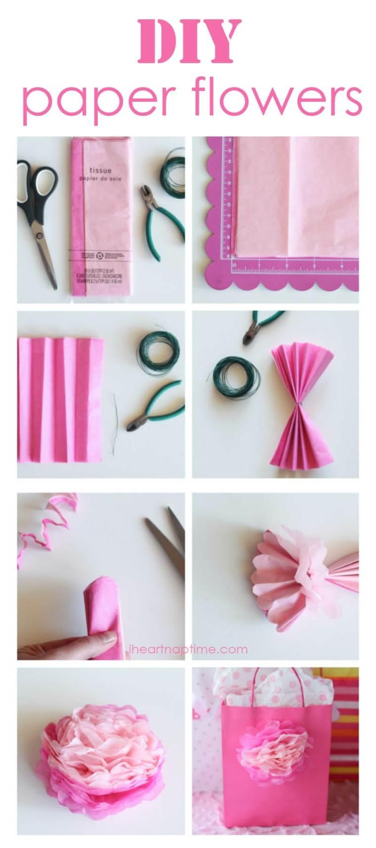 papel flores clavel servilletas
