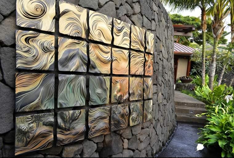 pared jardin obra arte decorativa