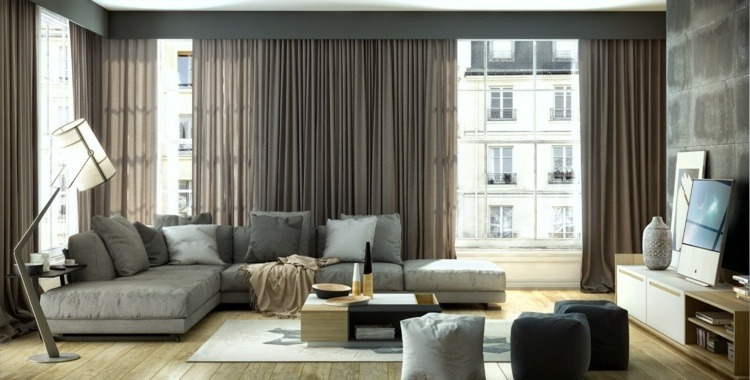 paredes hormigon muebles modernos efectos