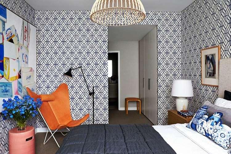 paredes papel tapiz muebles dorados