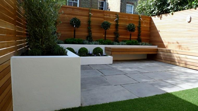 Parcelas rectangulares y jardines de chalets adosados 24 for Jardines de patios modernos