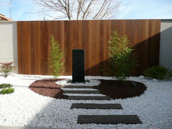 Dise o de jardines minimalismo aplicado a los ambientes - Disenos de jardines con piedras blancas ...