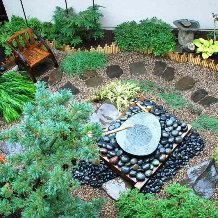pequeño creativo espacio japones sillones