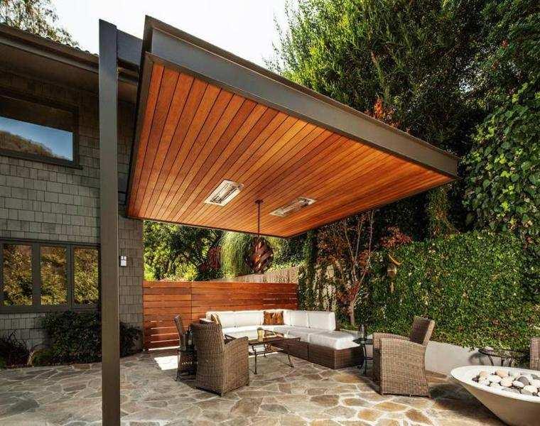 P rgolas madera dise os originales con tejados estilo - Techado de terrazas ...