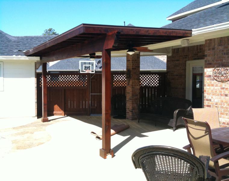 P rgolas madera dise os originales con tejados estilo - Tejados para pergolas ...