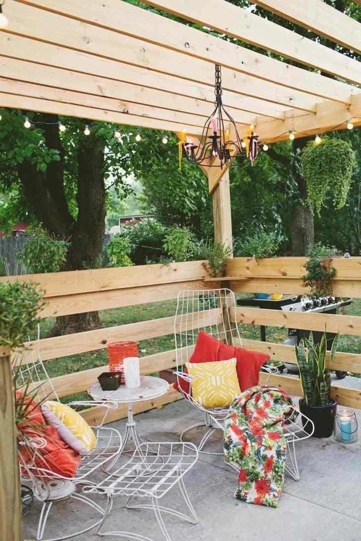pergolas decoracion estilos colores sillas