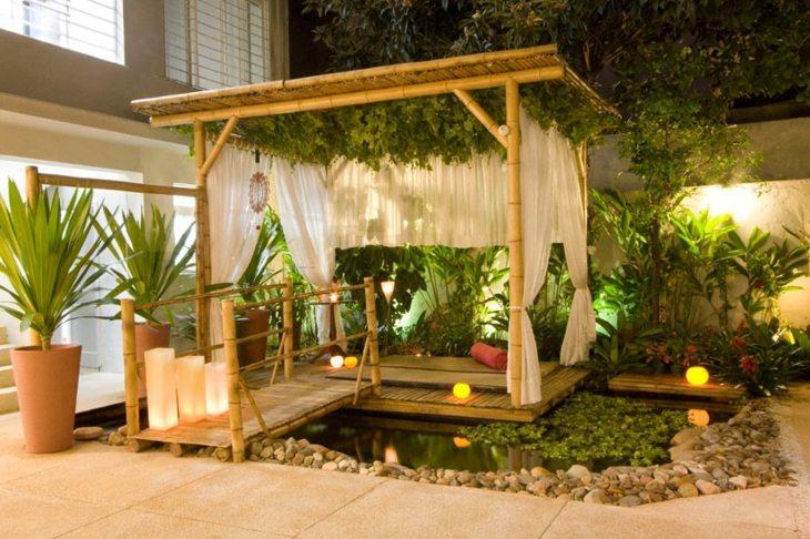 pergolas decoracion naturales bambu macetas