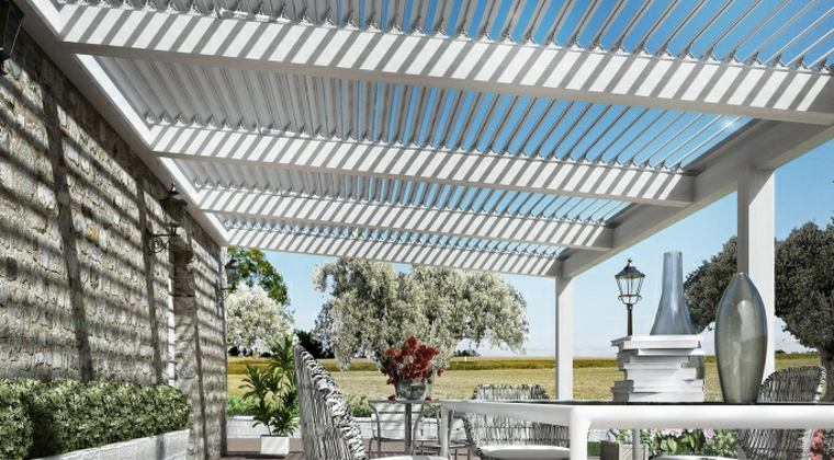 Pergolas Diseno De Salones En El Jardin Protegidos Del Sol - Pergolas-diseo