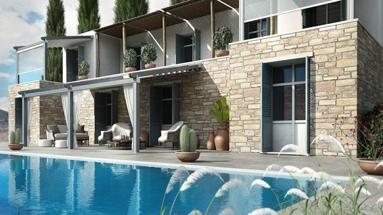 pergolas diseno jardin piscina amplio moderno ideas