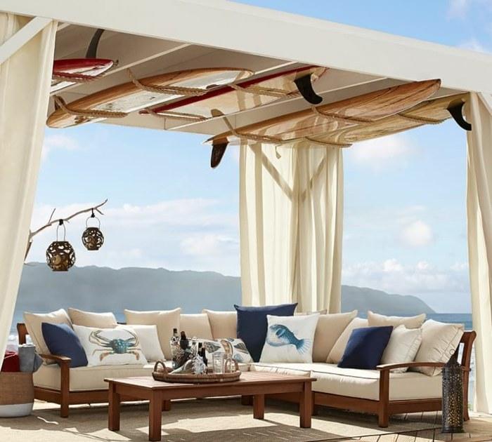 pergolas madera surf decorativos cortinas ideas