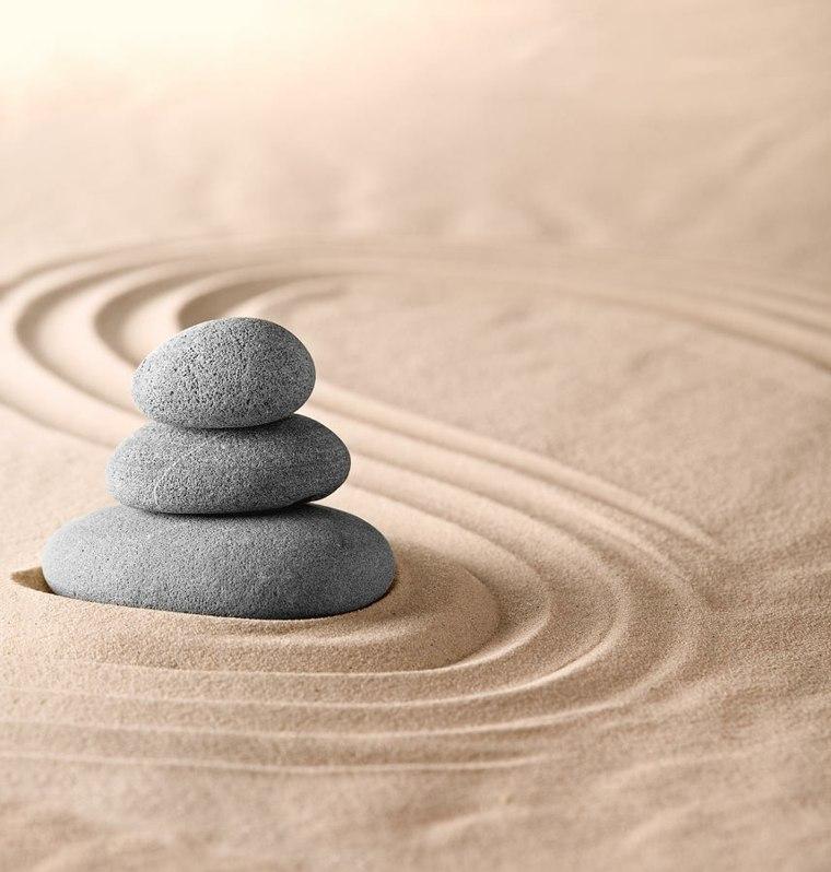 Piedras zen dise os de decoraci n japonesa para tu jard n - Arena jardin zen ...