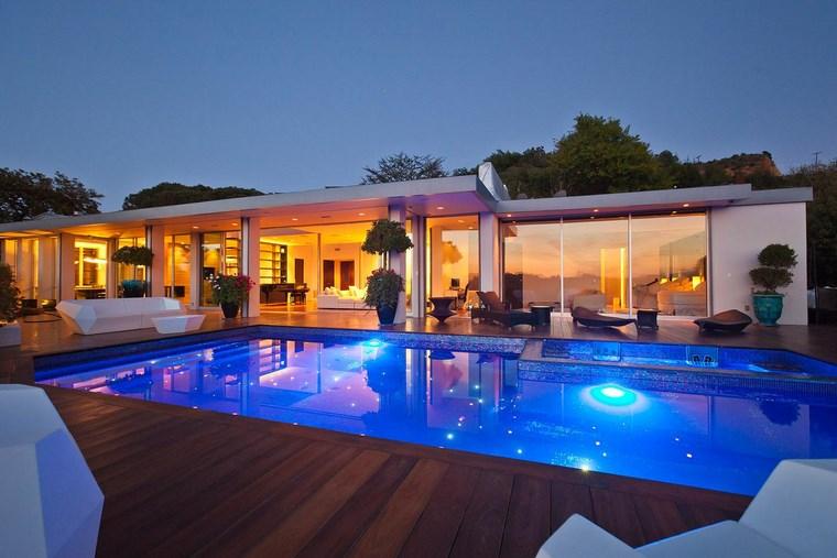 piscinas diseno original jardin casa moderna ideas