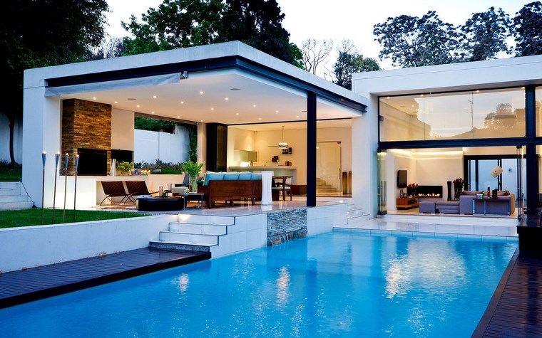 piscinas modernas jardin amplio diseno suelos