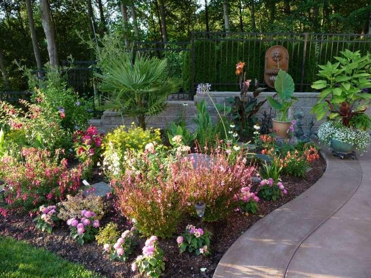 plantas jardin lantanas camino combinacion otras especies ideas