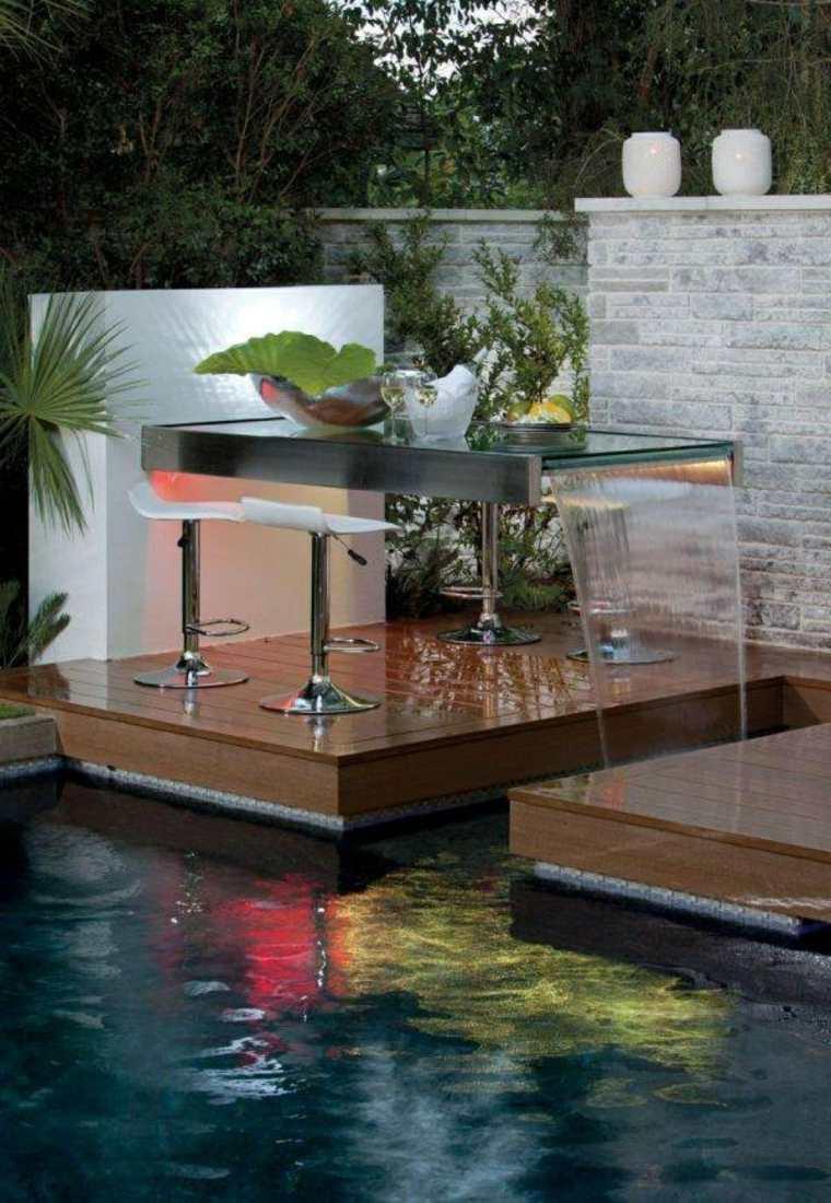 plataforma piscina estanque mesa fuente