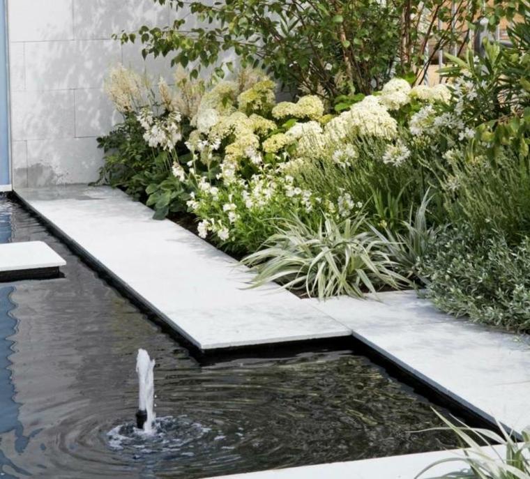 plataformas jardin diseño cemento