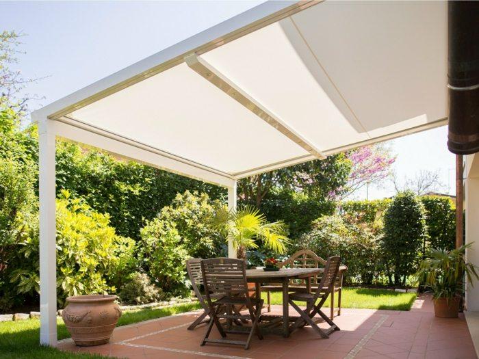 proteccion solar jardin moderno opciones pergola ideas