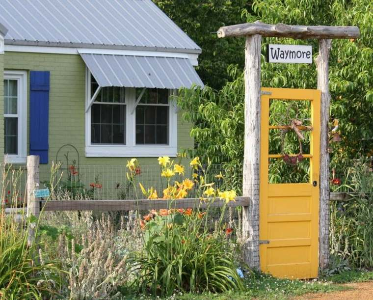 diseños de puertas de jardín