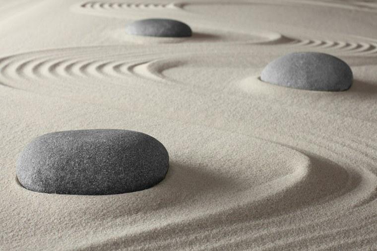 bonitas rocas diseños jardines zen