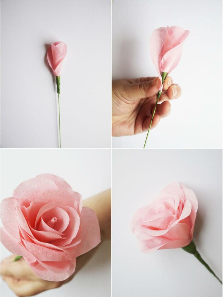 rosa papel bonito dsieño