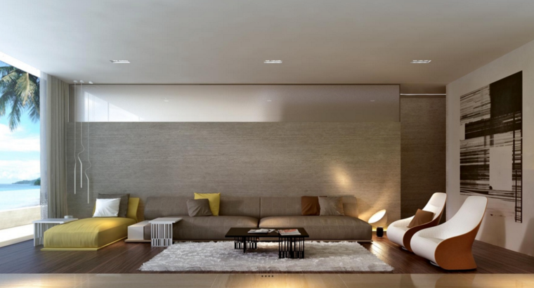 sala estar moderna minimalista