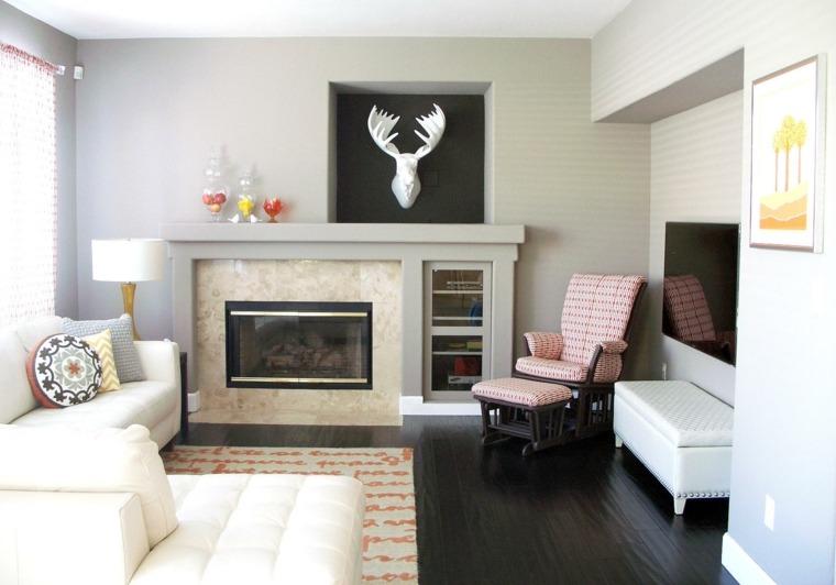 sala de estar pequeña eclectica