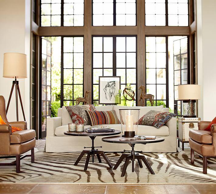 alfombras salon moderno alfombra estampa zebra ideas