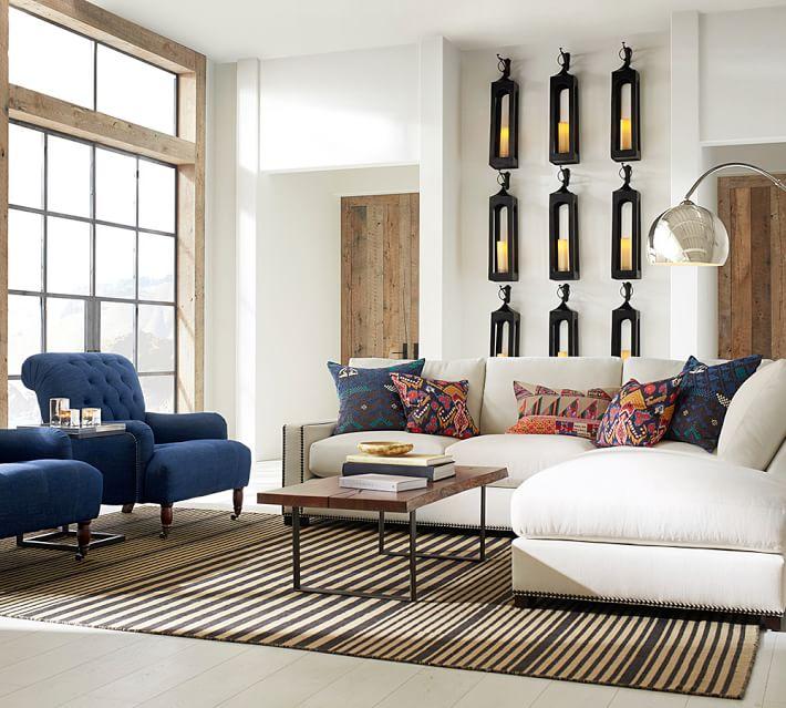 salon-moderno-alfombra-rayas-original