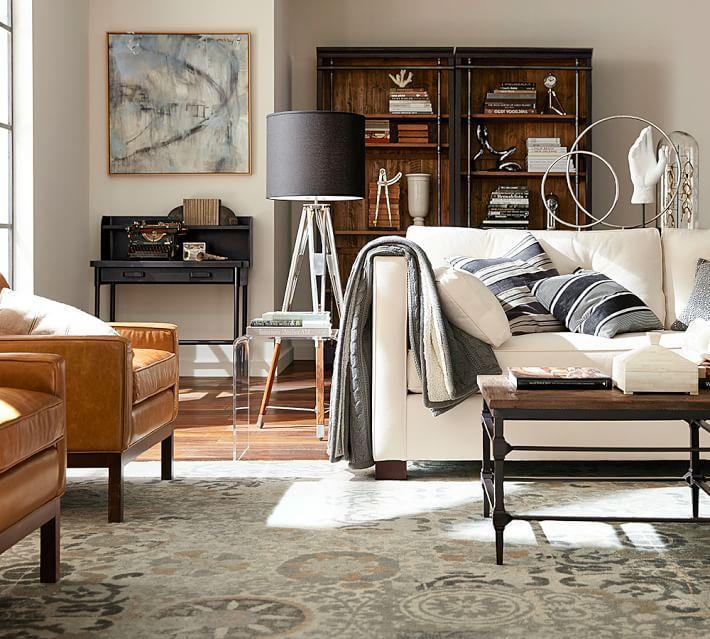 salon moderno sofa blanca alfombra inspiracion ideas