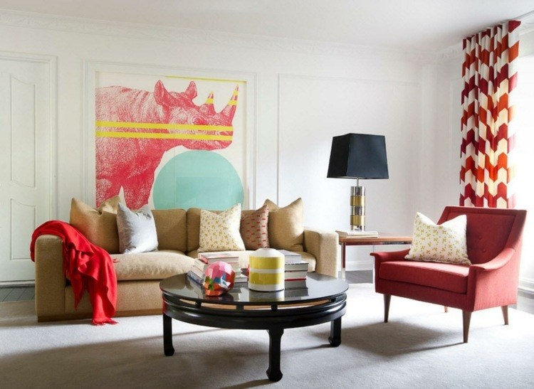 salones cortinas elegantes propuestas consejos rosa