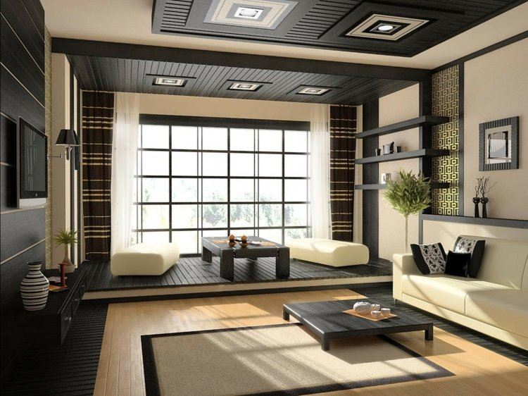 salones cortinas marrones colores cuadros