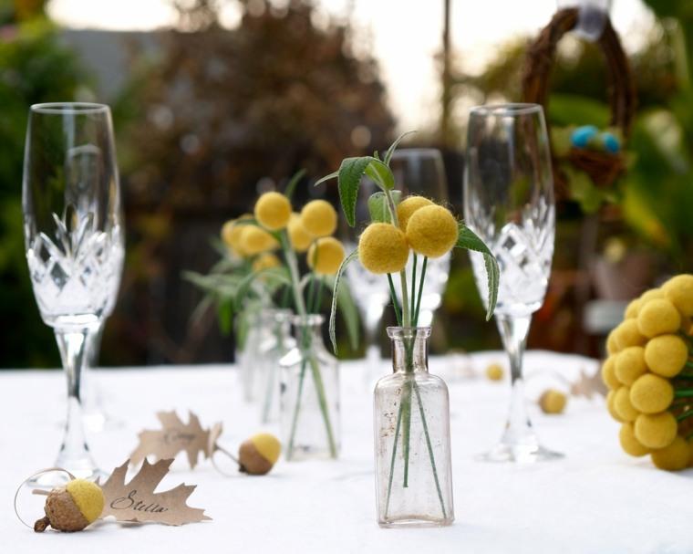 sencilla decoracin mesa bodas
