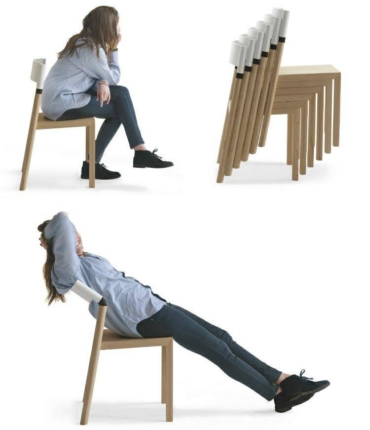 original silla madera respaldo ajustable