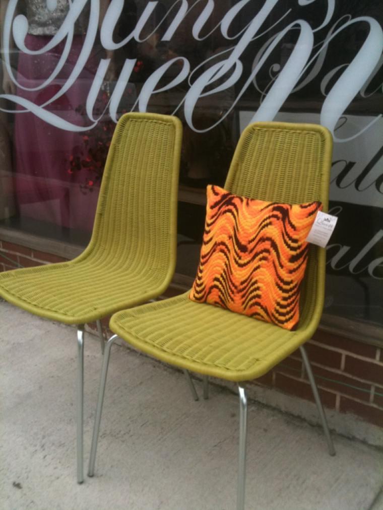 sillas originales mimbre diseno moderno