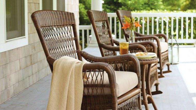 Muebles de mimbre y rattan modernos 24 dise os - Cojines para sillones de terraza ...