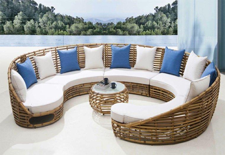 Muebles de mimbre y rattan modernos 24 dise os for Sofa mimbre terraza