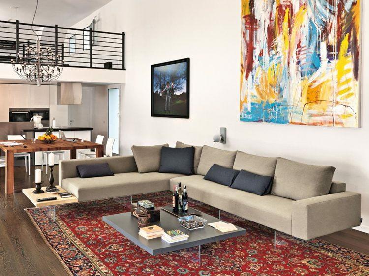 sofas modernos aire color beige
