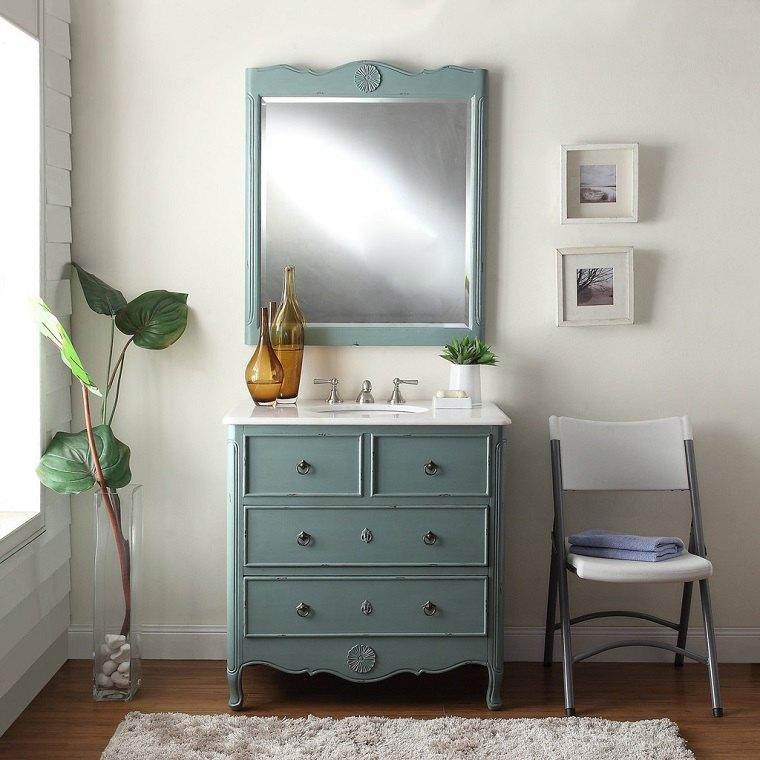 el espacio vintage simples detalles baño espejo