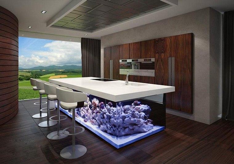 Acuario diseño de cocina sostenible por Robert Kolenik.
