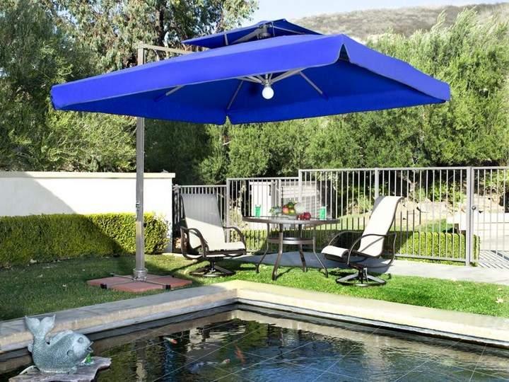 sombrilla sol aire libre color azul ideas